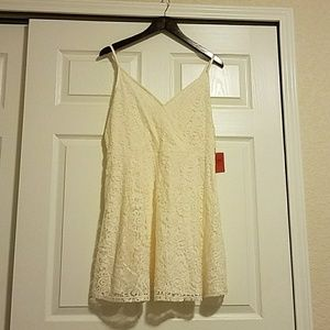 Lined Lace Tank Dress from Target